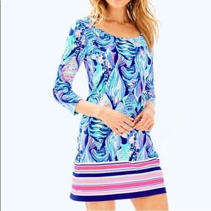 Lilly Pulitzer Beacon Shift Fish Striped Dress, XS